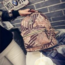 Girl Preppy Style Pu Leather School Casual Travel Backpack RR455