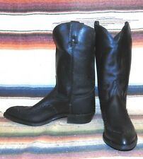 Mens Vintage Wrangler Range Rover Black Leather Cowboy Boots 13 D New In Box