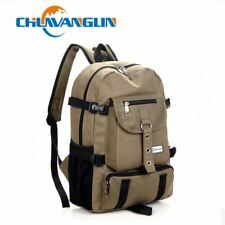 New Fashion shouider strap zipper solid casual bag male backpack school bag canv