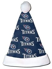 NEW NFL Tennessee Titans Christmas Football Santa Hat Personalized 18""
