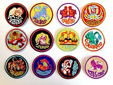 1x Zodiac Sign Patches Embroidered Patch Badge Applique Iron Sew On Horoscope