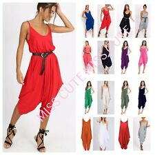 NEW WOMENS LADIES V NECK ALL IN ONE SUMMER BEACH HAREM JUMPSUIT ROMPER PLAYSUIT