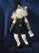 THE-MUPPETS-Gorgeous-Miss-PIGGY-Plush-Doll-APPLAUSE-Black-Dress-Collectible