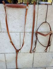 Barcoo bridle ri16b barcoo with platted brow band and breastplate set
