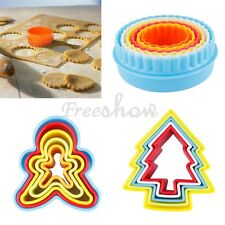 5/6pcs Biscuit Cookie Pastry Fondant Mold Mould Cutter Cake Decor Baking Tools
