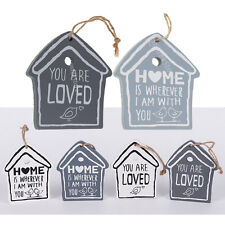 House Bird Rustic Wood Hanging Sign Wall Plaque for Home Room Wooden Sign Decor