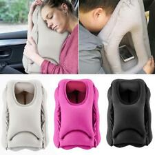 1x Inflatable Train Airplane Travel Neck Head Support Pillow Office Nap Pillow