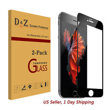 """2x Full Coverage Premium Tempered Glass Screen Protector Film for iPhone 6s 4.7"""""""