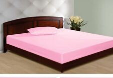 """1000TC Egyptian Cotton UpTo 30""""Inch Deep Pocket Fitted Sheet All Size Pink Solid"""