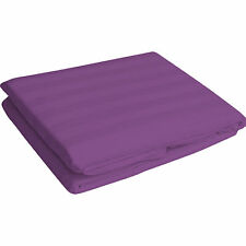 """1000 TC Egyptian Cotton UpTo 30""""Deep Pocket Fitted Sheet All Size Purple Stripe"""