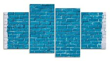 Art Canvas Abstract Wall Blue Art Print Multi Panel Picture Four Piece Decor