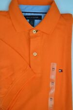 NWT Tommy Hilfiger Mens Short Sleeve Solid Polo Shirt Orange Medium