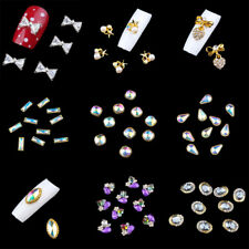 10pcs 3D Nail Art Jewelry Alloy Decor Crystal Rhinestones Glitters Tips DIY