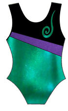 JADE & PURPLE LEOTARD - GIRLS SIZES 2 to 16 - GYMNASTICS DANCE GYM