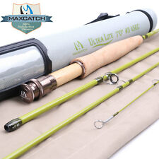 "Maxcatch 1/2/3WT Fly Rod 6'/6'6""/7'/7'6"" Graphite IM10 Fly Fishing Rod &Rod Tube"