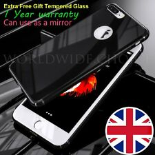 For Apple iPhone 7 & 7 Plus Case Ultra thin Hard Mirror Cover + Tempered Glass