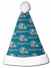 NEW NFL Miami Dolphins Christmas Football Santa Hat Personalized 18""