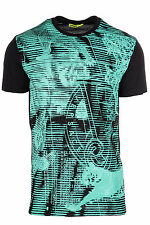 VERSACE JEANS MEN'S SHORT SLEEVE T-SHIRT CREW NECKLINE JUMPER NEW 899 ONICE  E95