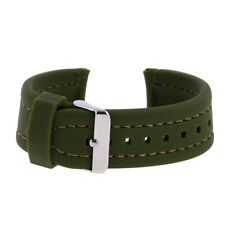 24mm 26mm Mens Silicone Rubber Watch Strap Band Waterproof with Deployment Clasp
