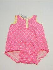 Carters One Piece Romper Shorts Outfit Pink Yellow 3 6 12 Months NWT
