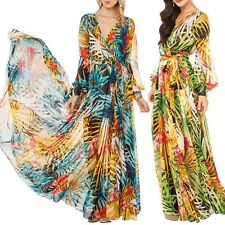 Women Summer Vintage Party Evening Beach Sundress BOHO Hippie Maxi Long Dresses