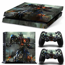 PS4 Skin & Controller Skin Decal Sticker For PlayStation 4 Transformers Autobots
