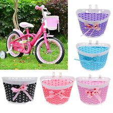 Kids Girls Pretty Bike Bicycle Front Basket Shopping Holder Case Easy Mount