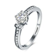 NEW Unique Silver Rings Charms Gift 18k White Gold Plated Fashion Jewelry