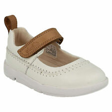 TRI ATLAS GIRLS CLARKS INFANT LEATHER MARY JANE PUMPS FIRST WALKING SPORTY SHOES