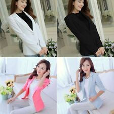 Women's One Button Casual Blazer Suit Career Jacket Office Lady Coat Outwear Hot