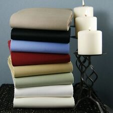 Full Size 4 pc Bedding Sheet Set 1000 TC 100%Egyptian Cotton All Solid Colors