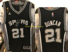 TIM DUNCAN San Antonio SPURS Adidas 2007 NBA FINALS Throwback SWINGMAN Jersey