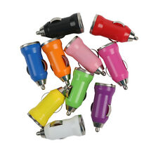 Car Charger Adaptor Bullet Dual USB For iPod iPhone 4 5S Samsung Galaxy