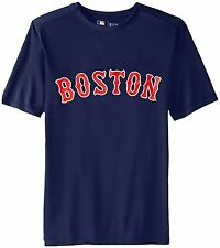 Boston Red Sox MLB Mens Navy Synthetic TX3 Jersey Short Sleeve T-shirts: L