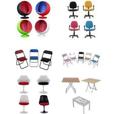 Action Figure Accessories 1/6 Swivel Chair Foldable Chairs Desk Table Furnitures