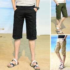 Fashion Casual Mens Cargo Shorts Pants Cotton Rope Short Pants Trousers Sz 28-38