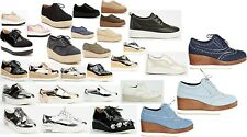 Womens Ladies Hidden Wedge Lace Up Trainers Shoes Size