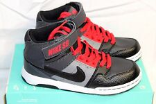 NEW Boys Youth Black/Gray/Red Nike SB Mogan Mid 2 Jr Skateboarding/casual shoes