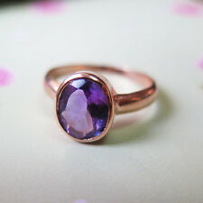 Adita GORGEOUS 14k Solid Rose Gold HANDMADE Amethyst VINTAGE UNIQUE Ring