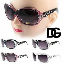 NEW DG Fashion Designer Eyewear Rhinestones Oversized Shades Retro Sunglasses
