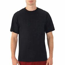 3 PACK ~ Fruit of the Loom Mens Black Tag Free 100% Cotton Crew Neck T-Shirts