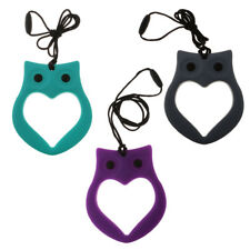 Wise Owl Pendant Rope Necklace Mom Jewelry Baby Grasping Nursing Teether Toy