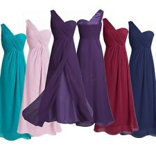 Fashion Women's One Shoulder Long Prom Evening Formal Party Dress Bridesmaid