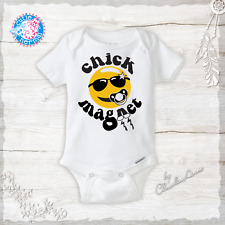 Chick Magnet Funny Baby Boy Onesies Coming home Outfit New Baby Gifts Infant