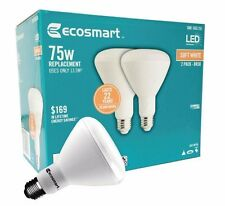 Qty 2 to 24- EcoSmart 75W Equivalent Soft White BR30 Dimmable LED Light Bulb