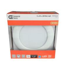Qty 1 to 24 - Commercial Electric 5 in. and 6 in. White Recessed LED Disk Light