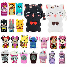 For iPhone New 3D Cartoon Cute Animals Soft Silicon Cover Back Skin Various Case