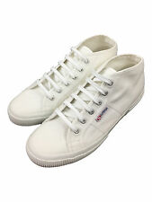 Superga Mens Lace Up Mid Trainer in White Size UK 9 EUR 43