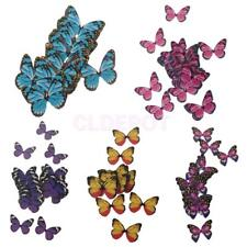 50pcs Colorful Butterfly Cupcake Cake Toppers Fairy Birthday Cake Decoration
