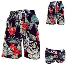 Womens Mens Couple Summer Beach Surf Board Swimming Shorts Pants Floral Print